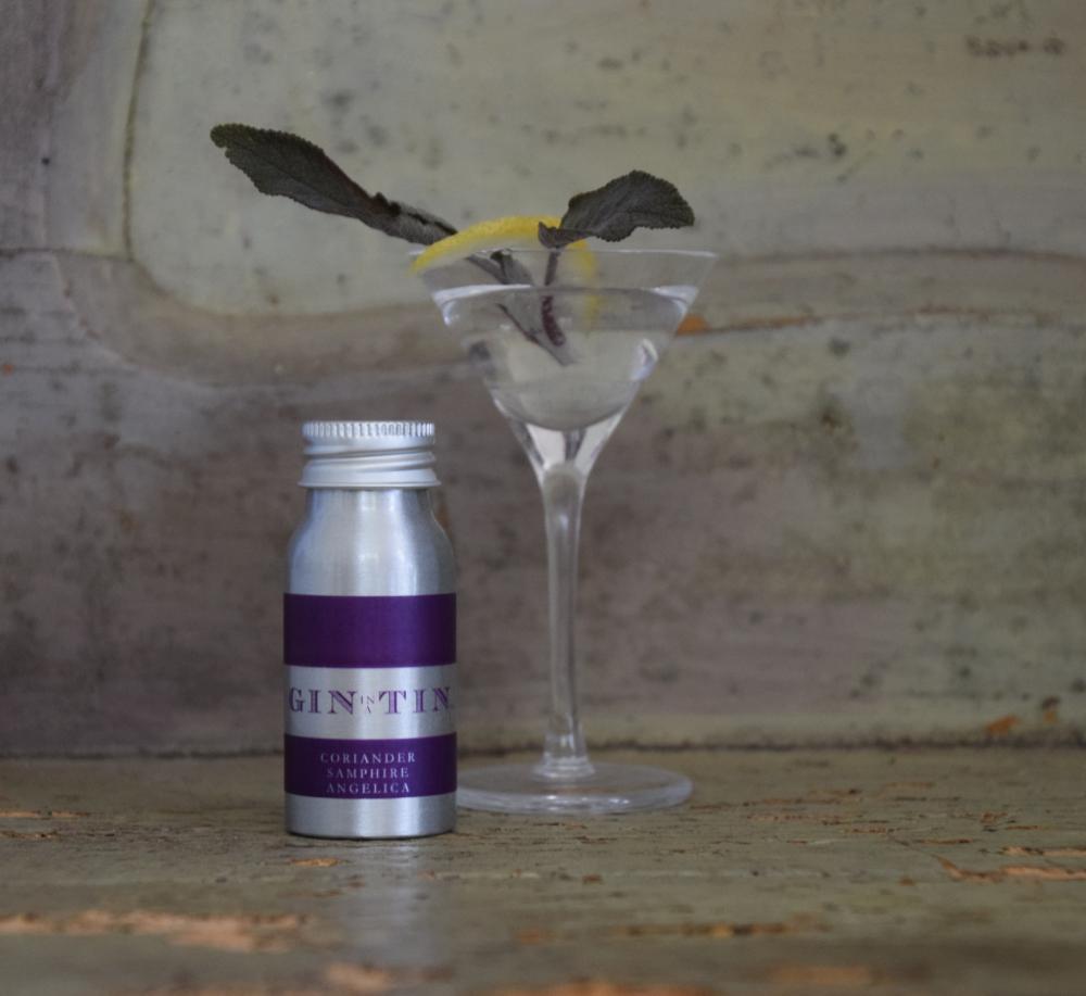 Gin In A Tin - Mini Tin Close Up