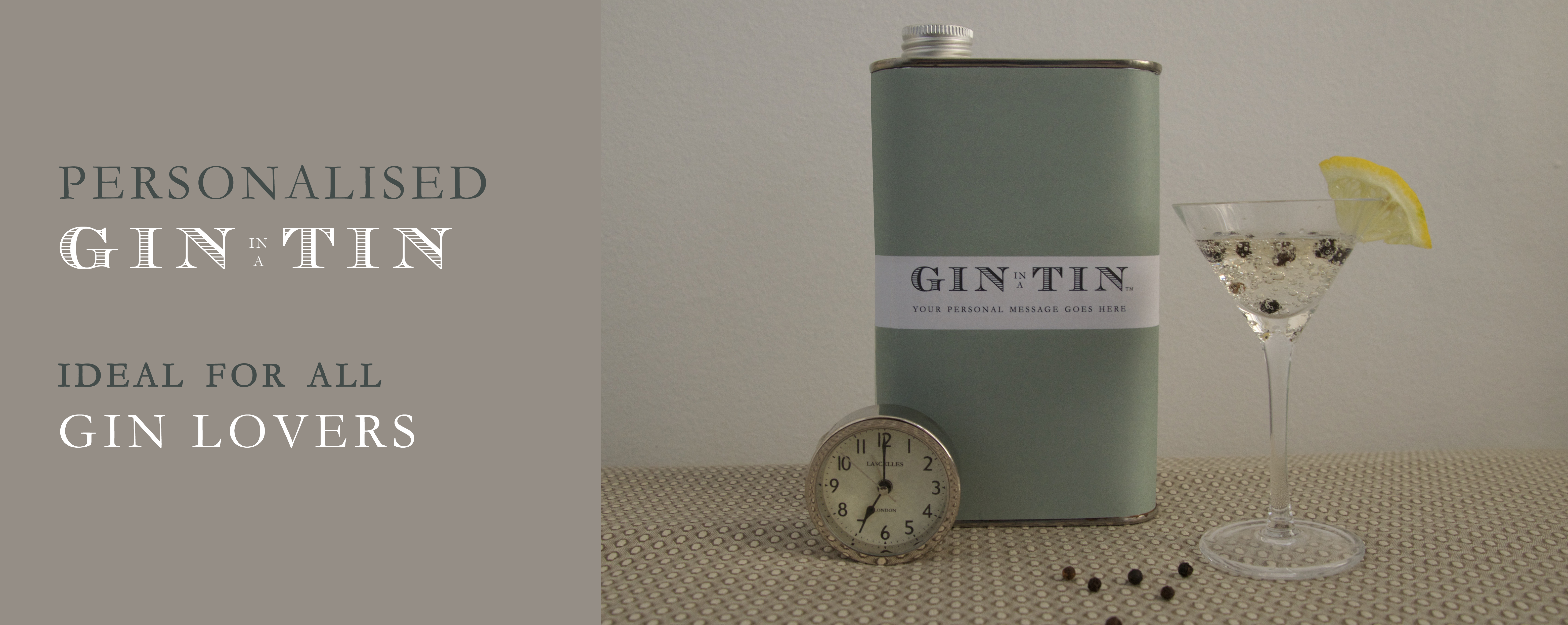 GIN  IN A TIN - Personalised Gin