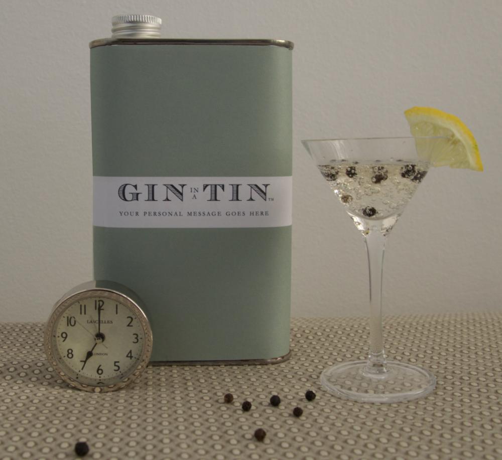 Gin In A Tin - Personalised Gin Tin