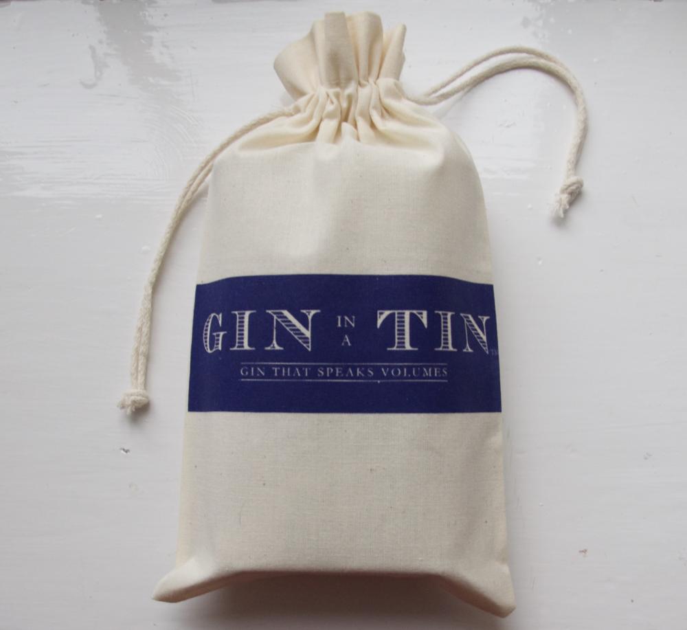 Gin In A Tin - Cotton Gift Bag