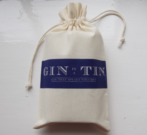 Gin In A Tin - Cotton Gift Bag