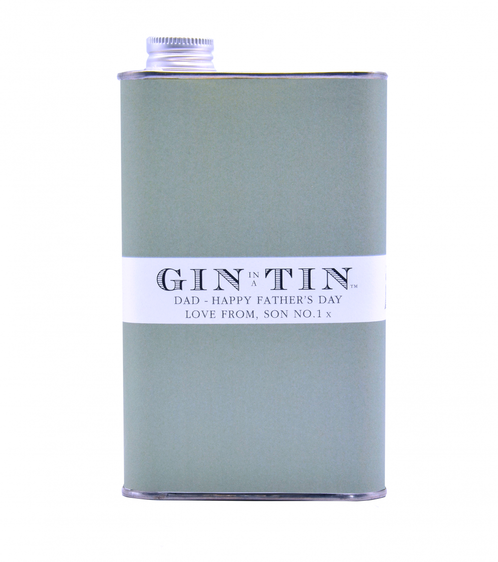 Gin In A Tin - Happy Father's Day Personalised Gin Tins