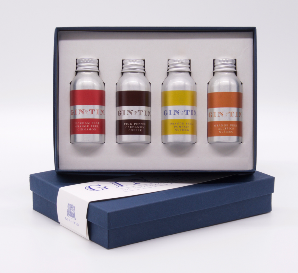 Gin In A Tin - Gin Gift Set of 4 - Autumn