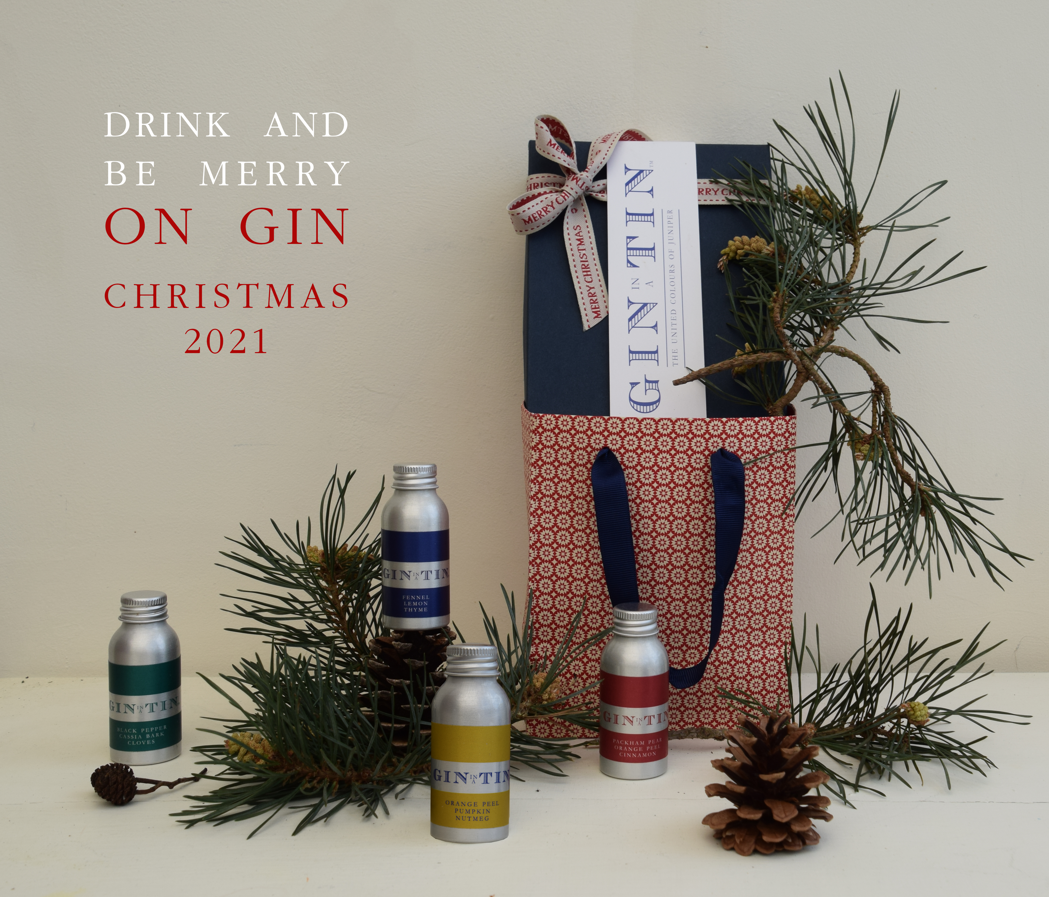 Gin In A Tin Box Set Four - Christmas 2021