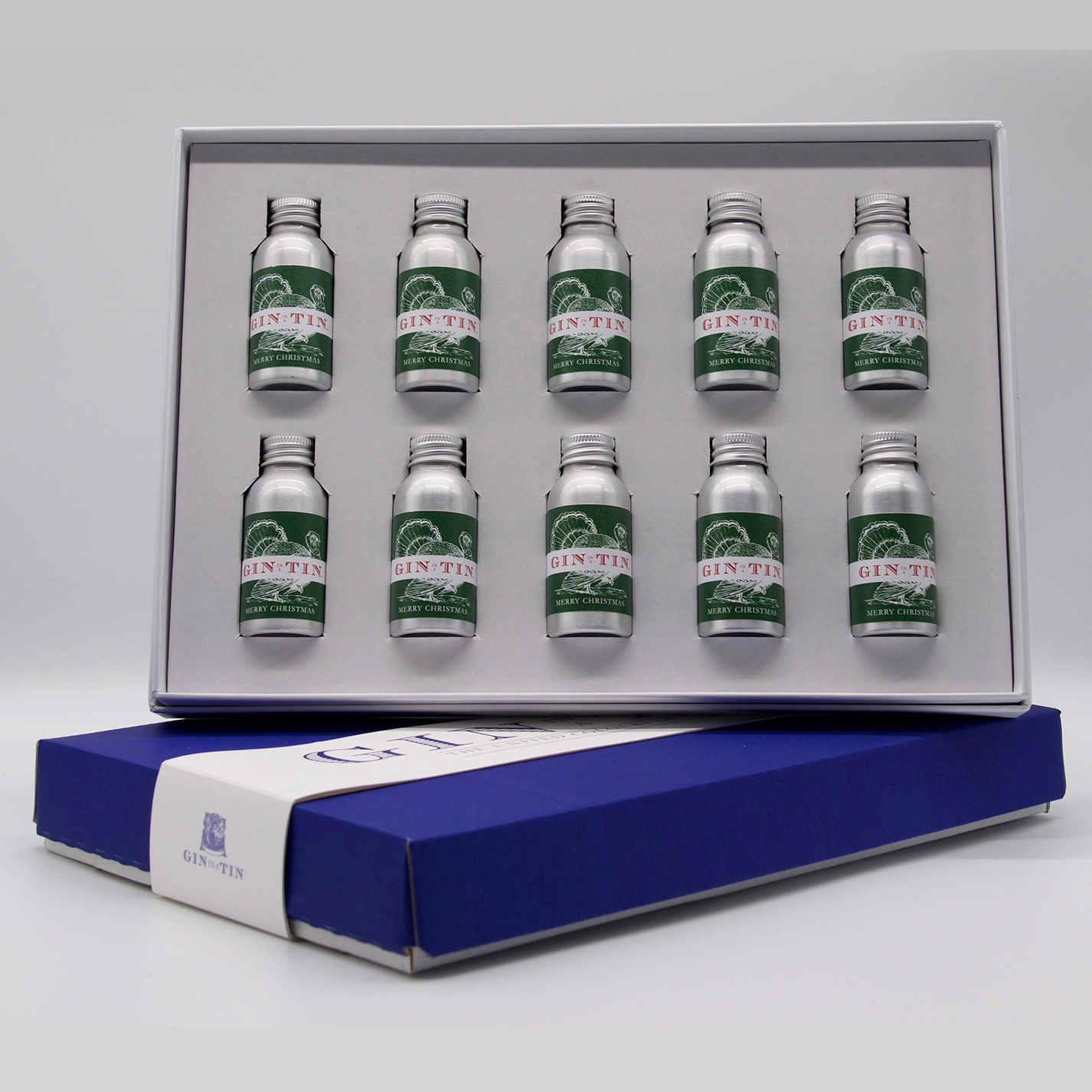 Gin In A Tin -Box set of Ten Christmas Gins