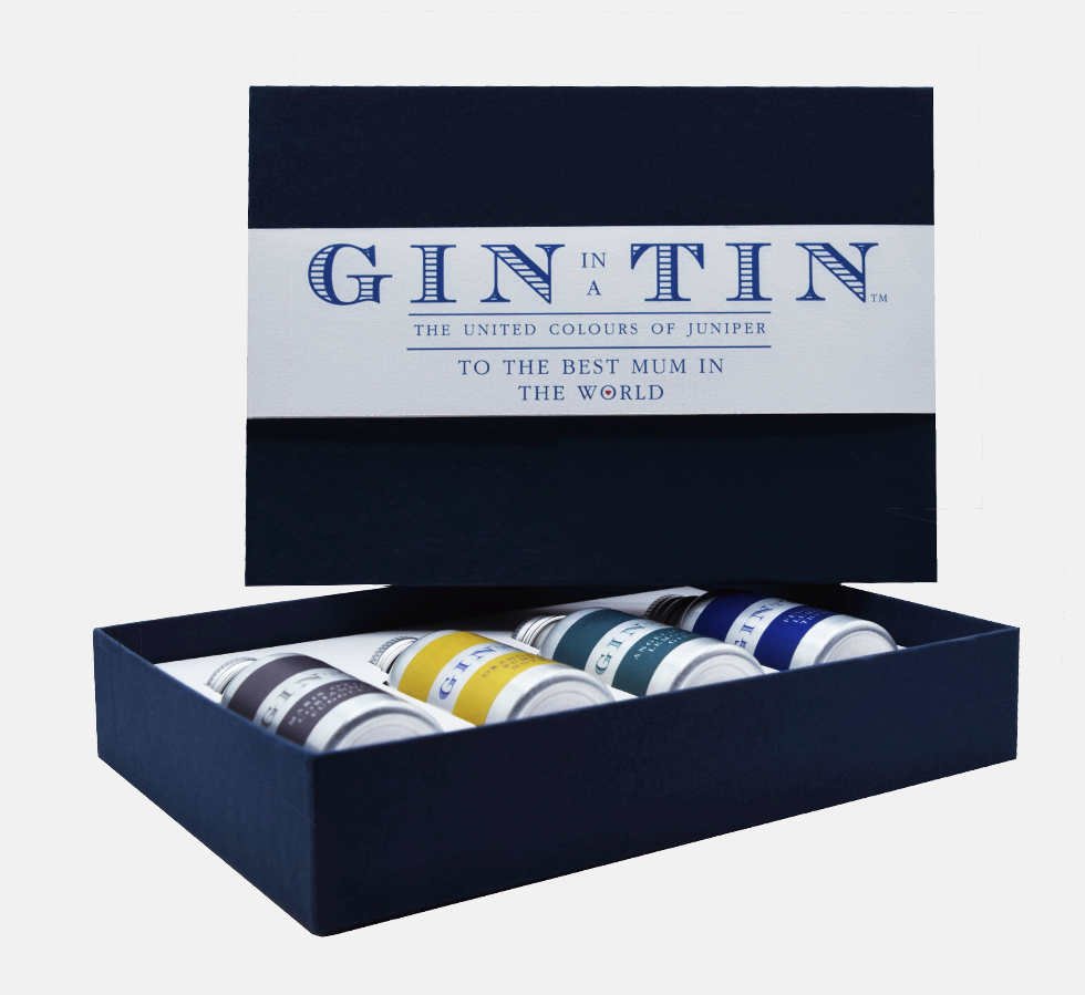 Gin In A Tin - Box Set of Four Blue - To The Best Mum In The World
